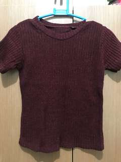 Red top (knitted, body hugging)