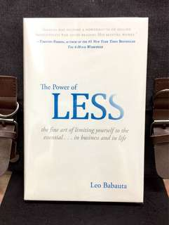 # Highly Recommended《Preloved Hardcover + Making Life More Effective By Do Less Get More Done》Leo Babauta - THE POWER OF LESS : The Fine Art of Limiting Yourself to the Essential...in Business and in Life