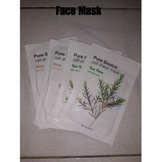 Face Mask Rice and Tea Tree