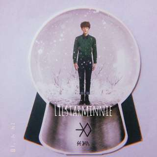 EXO Sehun Official Snowglobe Photocard from Miracle in December album