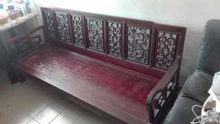 Antique Wood Couch