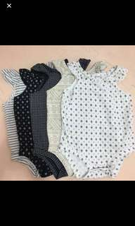 All for $12 Carters bohemian rompers