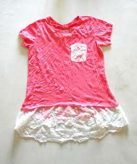 Kids blouse with lace