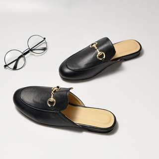 PO | Leather Loafer Mules
