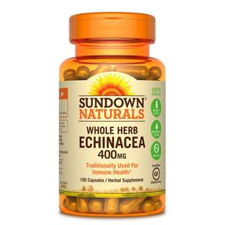 Sundown Naturals Echinacea, 400mg, 100 Capsules