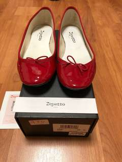 Repetto RED flats size 38