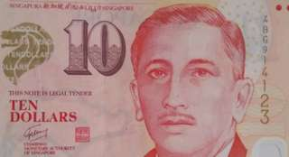 Singapore 10 dollars note