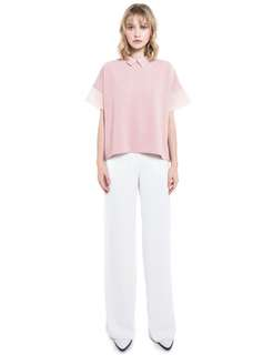 Collate the Label's Organza Collar Top in Dusk Pink
