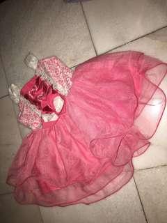 Gown pink 1 year old #gaunkanakkanak #gown #dress #pink