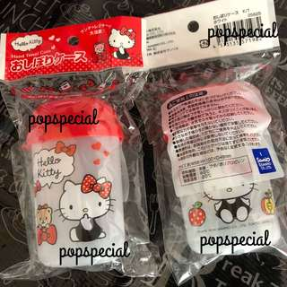 Last SET Hello Kitty Hand Towel Biscuits Plastic Container