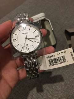 Brand New With Tag Fossil Jacqueline Three Hand Watch Stainless Steel