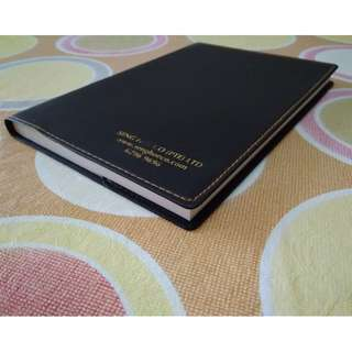 Organizer Planner Diary Notebook in Faux Leather Cover