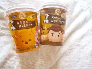 TSUMTSUM迷必搶!韓國便利店全新即沖濃湯隨行杯,隨機任抽36款超可愛磁石公仔!