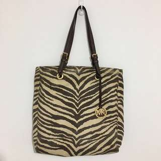 Authentic Michael Kors North South Zebra Tote