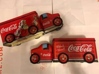 Coca Cola can trucks x2 可口可樂車
