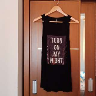 Stradivarius_ Black Glam Tank Top
