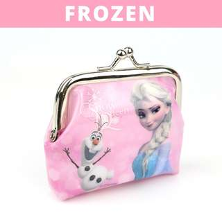 Little Girls Coin Pouch - Pink Frozen