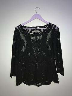 H&M LACE LONG-SLEEVE