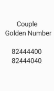 Couple Golden Number