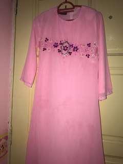 Baju Kurung kids jubah (pink)
