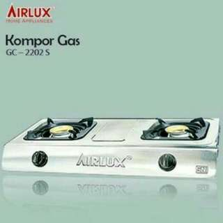 Kompor gas 2 tungku Airlux stainless stell