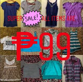 All of the items are ₱99