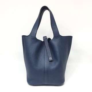 正品 全新 Hermes Picotin 26 寶石藍手挽上膊袋