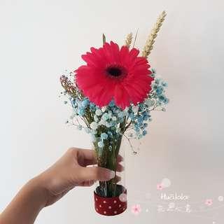 Flowers in a tube - Fresh cut flowers