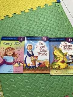 PL step into reading books (3 books)