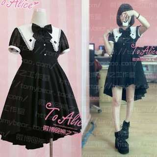 Japanese Gothic Lolita black dress