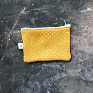 Mustard Polkadot Coin Pouch