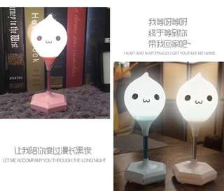 Table lamp with voice recording