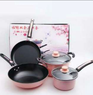 4 pcs pans set