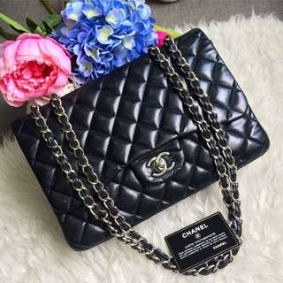 ✨Superb Deal!✨ Save 5k! Good Condition Chanel Jumbo SF in Black Lambskin SHW