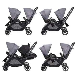 Twin/double stroller.