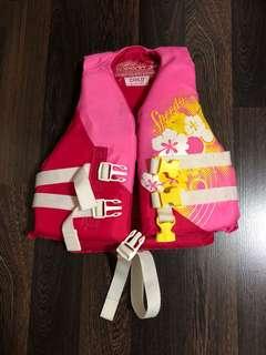 Pre-loved lightly used speedo life jacket for girls