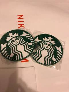 Set of 2 Starbucks coaster 杯墊