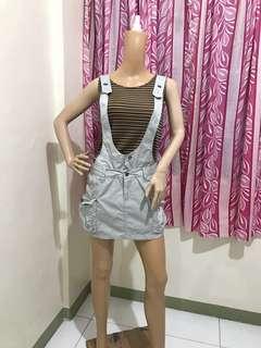 """NEW 31"""" Jumper Skirt Convertible Grey"""