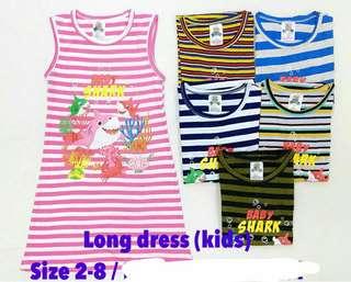 💙Baby Shark Long dress Kids Love💙