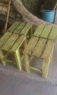 Kursi kayu exs peti kemas