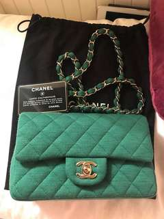 Chanel mini flap in canvass