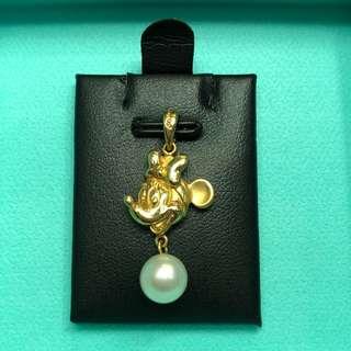 18K DISNEY Minnie Mouse 🐭 pearl pendant