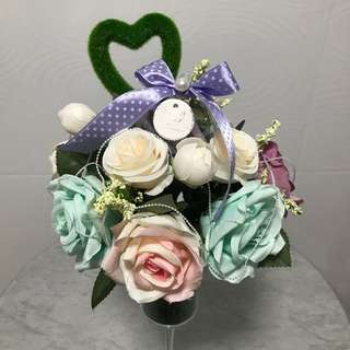 Champagne Glass Flaux Flowers Gift