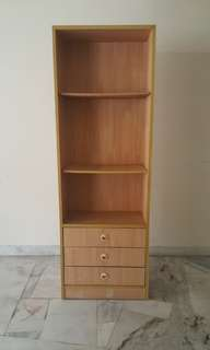 Book Shelf with 3 drawers