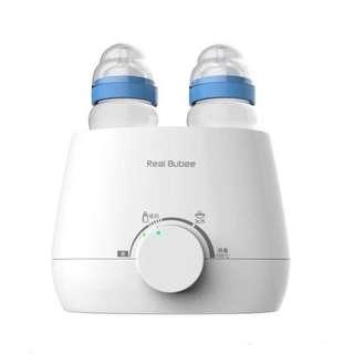 ORIGINAL Real Bubee Dual Bottle Baby Food Milk Warmer Anti Bacteria