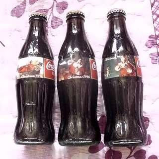 可口可樂1996年美國聖誕紀念樽三枝