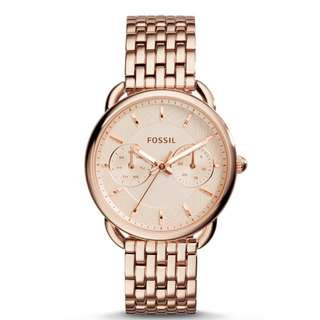 Fossil original ES3713 Women's Tailor Multifunction Rose Gold Watch