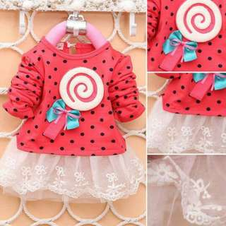 Pre-Order Baby Girl Long Sleeve Lace Party Dress