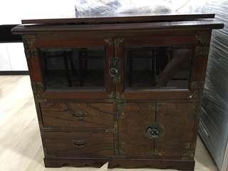 Special offer today only! $400 Antique Cabinet with rotating top!!