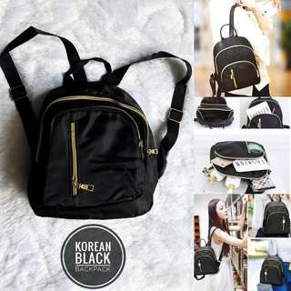 KOREAN BLACK BACKPACK